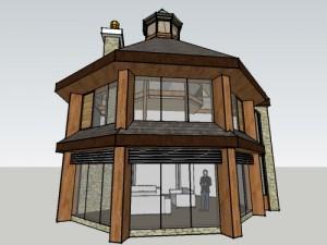 contemporary hexagonal house extension design in meath ireland