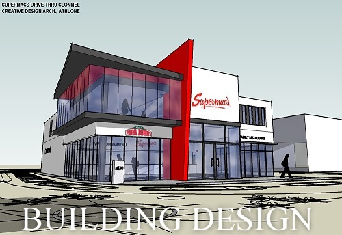 clonmel-drivethru-supermacs supervision onsite architects design