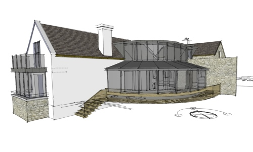 vernacular-circular-home-extension-with-internal-court-for-private-client-architectural-drawings-by-brendan-lennon-1 vernacular circular home design with internal courtyard architects design