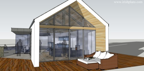 Split Roof Design: Modern-extension-to-existing-farmhouse-at-galway